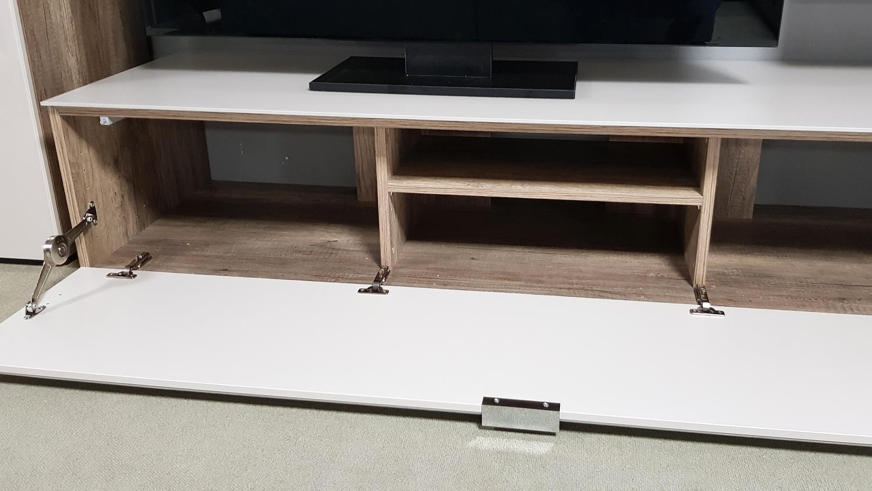 TV Board Wildeiche Sandglas CLEO 11 Von CS Schmal 163 Cm Breit