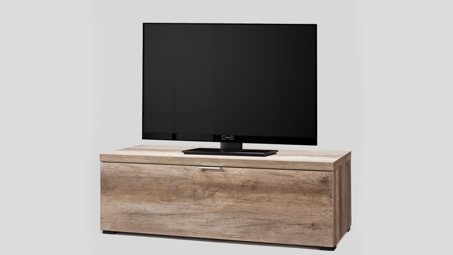 tv board wildeiche cleo 10 mit abdeckplatte von cs schmal. Black Bedroom Furniture Sets. Home Design Ideas