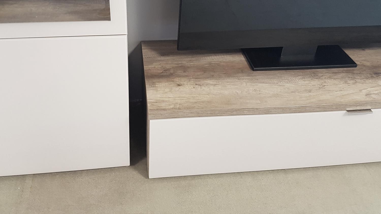 wohnwand 2 cleo in wildeiche und sandglas von cs schmal. Black Bedroom Furniture Sets. Home Design Ideas