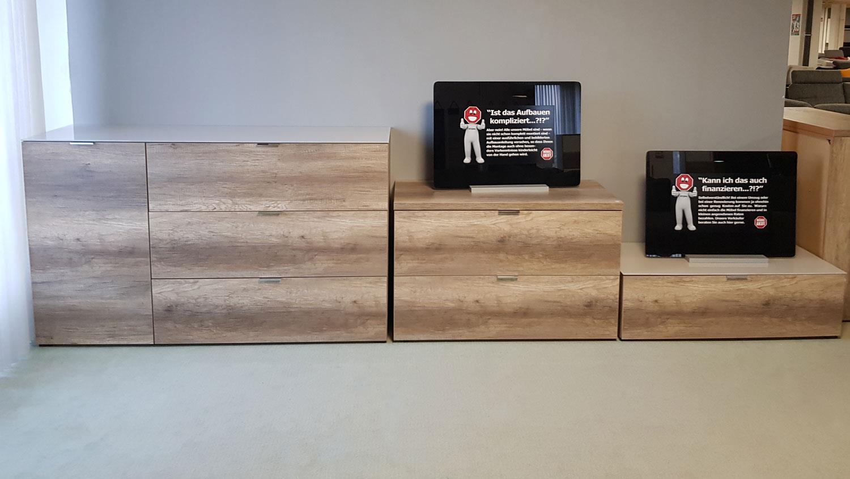 kommode cleo15 von cs schmal wildeiche 1 t r 1 klappe 2 schubk sten. Black Bedroom Furniture Sets. Home Design Ideas