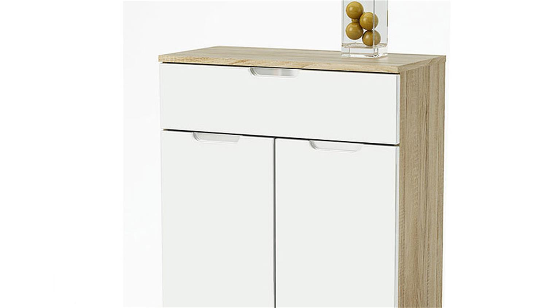kommode i liso wei hochglanz sonoma eiche s gerau. Black Bedroom Furniture Sets. Home Design Ideas