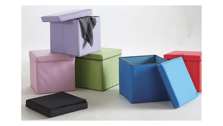 polsterhocker boxy hocker faltbox in rot faltbar mit deckel. Black Bedroom Furniture Sets. Home Design Ideas