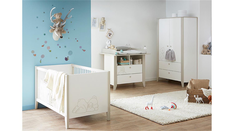Babyzimmer ourson in samtwei und beige mit teddy b r motiv for Babyzimmer beige