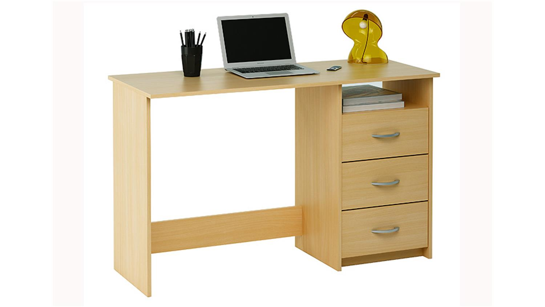 Schreibtisch aristote computertisch tisch in buche dekor for Computertisch in buche