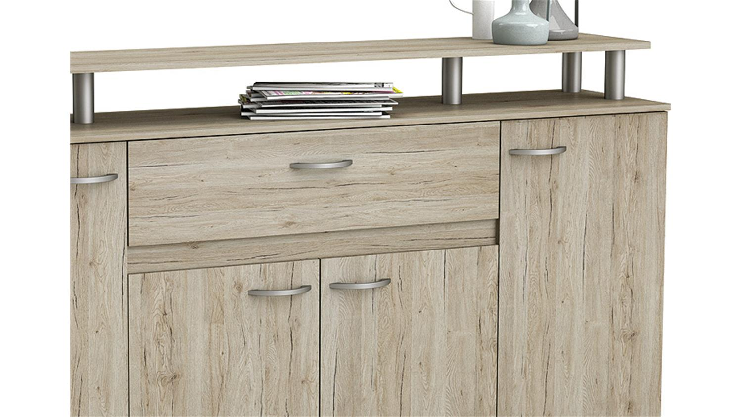 sideboard revolution anrichte kommode in san remo eiche. Black Bedroom Furniture Sets. Home Design Ideas