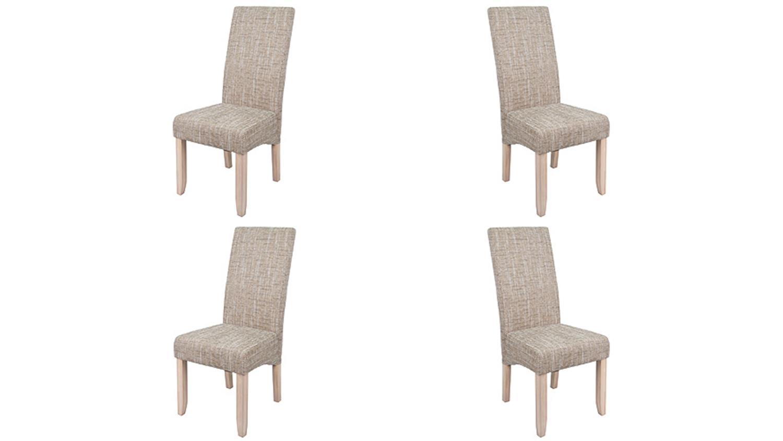 stuhl sagua 4er set in strukturstoff beige. Black Bedroom Furniture Sets. Home Design Ideas