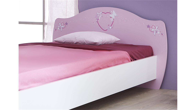 Bett Papillon Kinderbett In Orchidee Rosa Und Wei 223 90x200