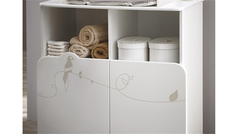 wickeltisch jungle wickelkommode wei mit dschungelmotiv. Black Bedroom Furniture Sets. Home Design Ideas