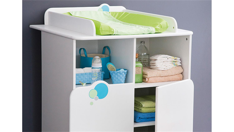 bulles kinderzimmer weiß blau grün mit motiv - Kinderzimmer Weis Grun