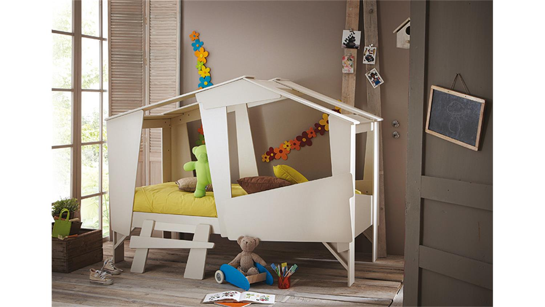 hochbett cabane kinderbett taupe beige inkl leiter rollrost. Black Bedroom Furniture Sets. Home Design Ideas