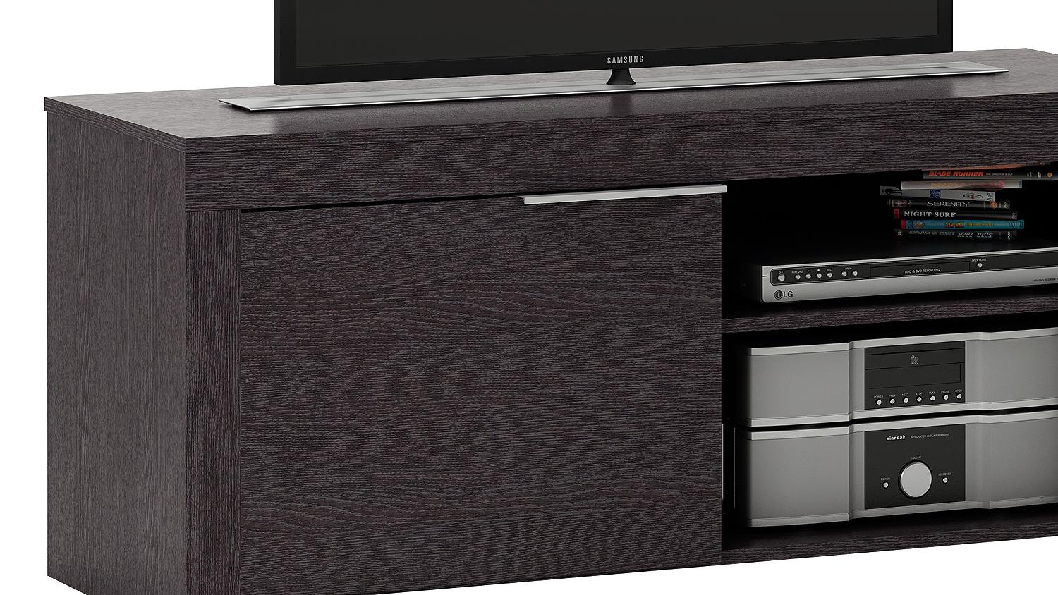 tv board rubis tv bank lowboard unterschrank ebenholz braun. Black Bedroom Furniture Sets. Home Design Ideas