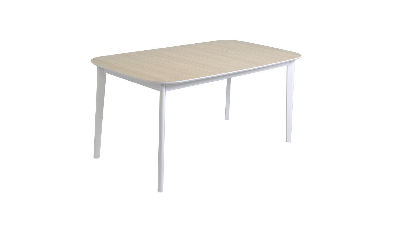 Esstisch block tisch eiche aragon wei ausziehbar 160 200 for Tisch eiche ausziehbar