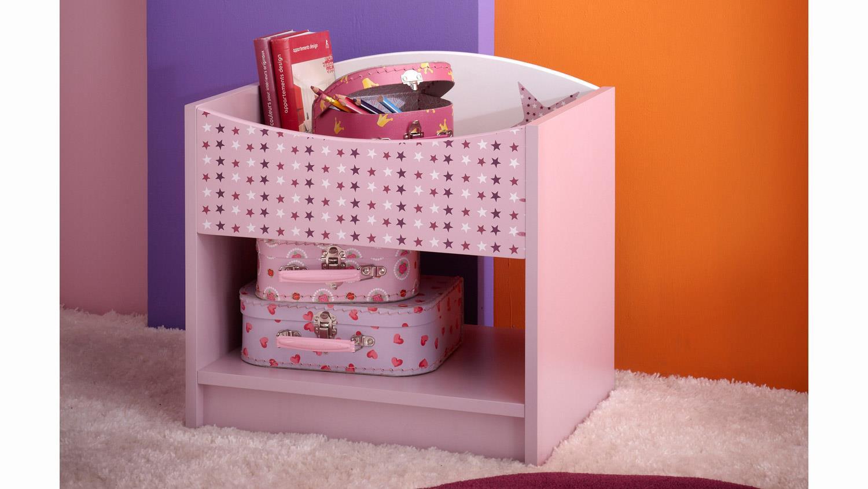 Kinderzimmer Set Fee Mit Sternen Weiss Flieder Lila Siebdruck