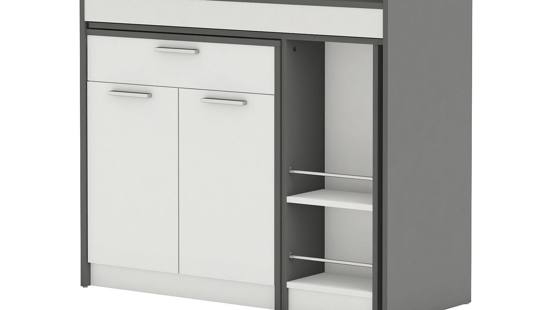 Küchenschrank Grau