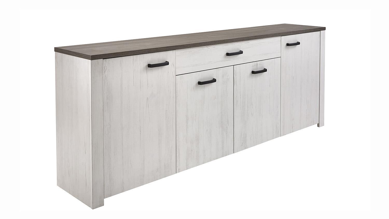 sideboard marquies in kiefer wei oberplatte prata eiche. Black Bedroom Furniture Sets. Home Design Ideas