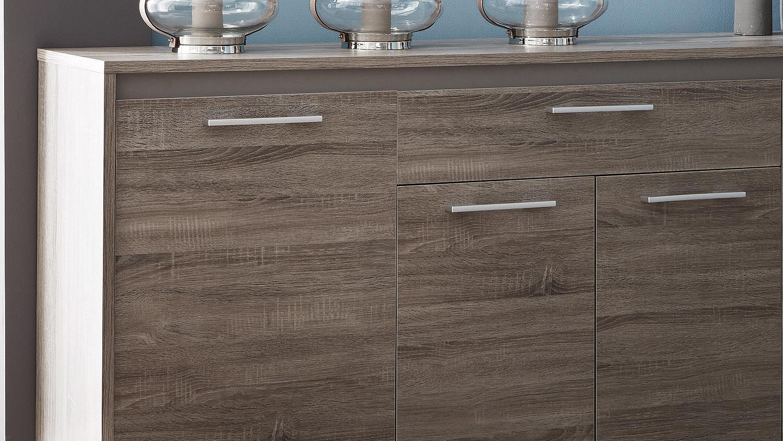 sideboard steen in eiche dunkel basalt breite 200 cm. Black Bedroom Furniture Sets. Home Design Ideas