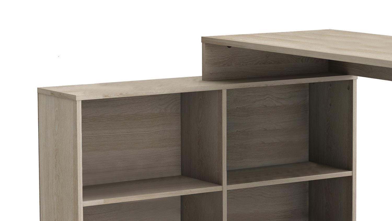Eckschreibtisch Corners Schreibtisch Bürotisch in weiß inkl Regal 112x101 cm