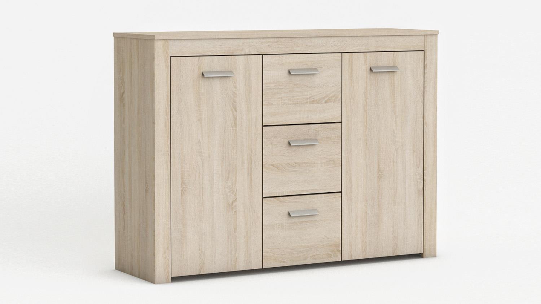 kommode brava anrichte in sonoma eiche b 118 cm. Black Bedroom Furniture Sets. Home Design Ideas