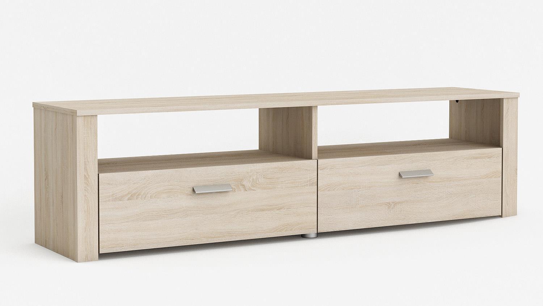 tv bank brava lowboard in sonoma eiche b 151 cm. Black Bedroom Furniture Sets. Home Design Ideas