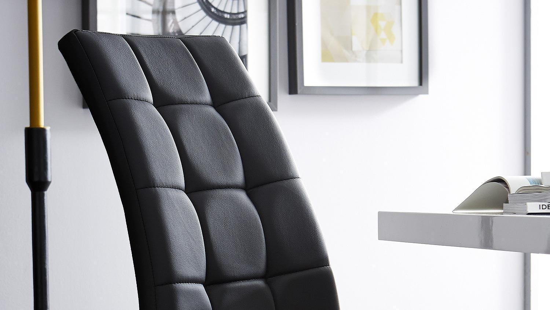 Schwingstuhl luano 2er set schwarz und metall verchromt for Schwingstuhl schwarz