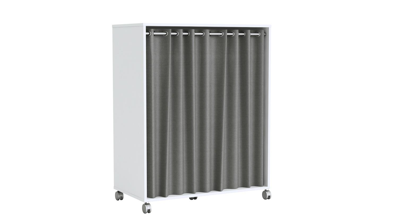 kleiderschrank mana schrank garderobenschrank wei mit vorhang grau. Black Bedroom Furniture Sets. Home Design Ideas