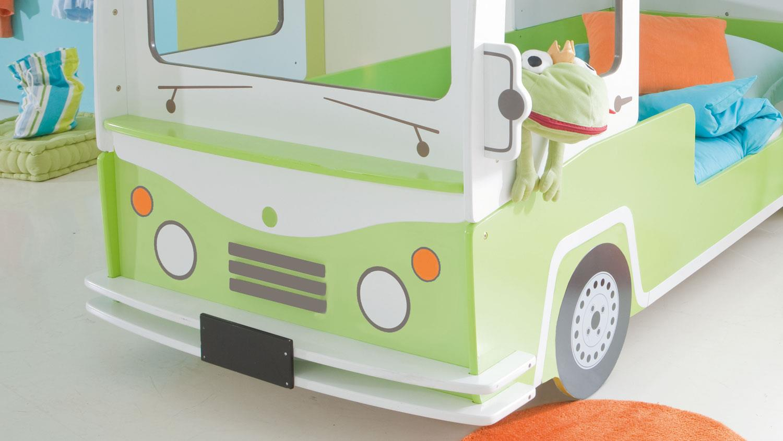 Bussy Etagenbett : Etagenbett hochbett bussy autobus mdf weiß grün lackiert