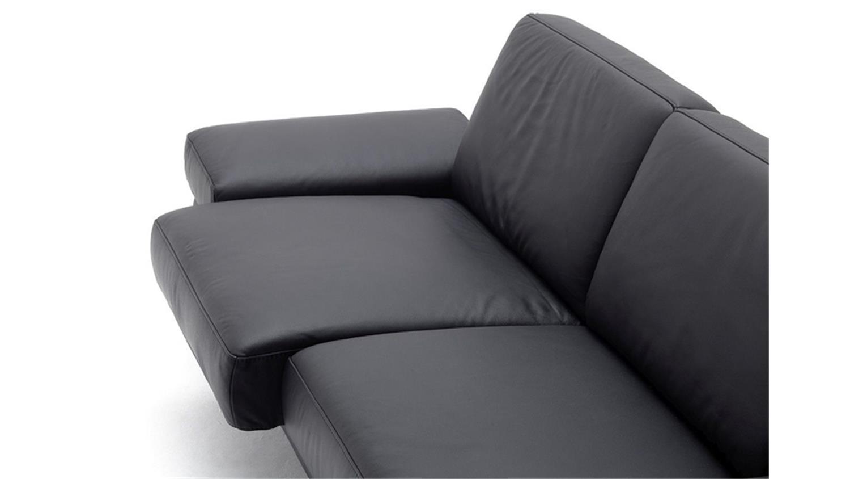 Ledersofa schwarz 3 sitzer  3-Sitzer FINEST in Leder schwarz mit Funktionen