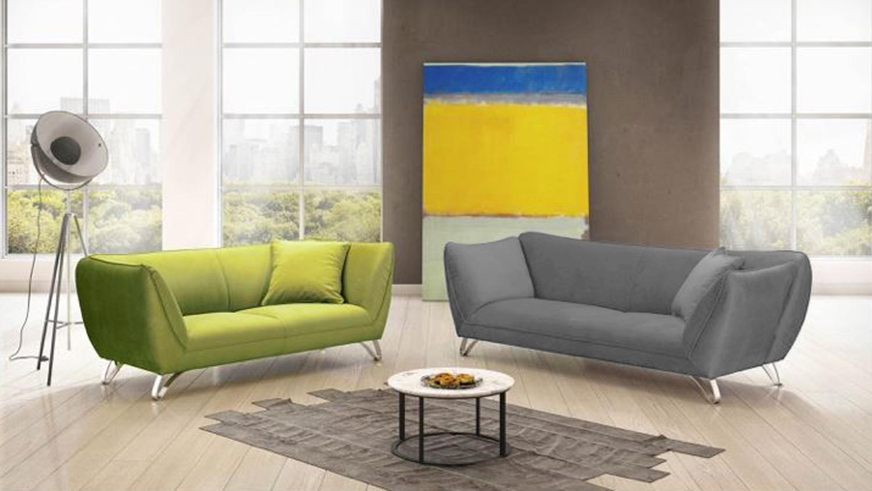 bigsofa maroni sofa 3 sitzer in grau mit armlehnfunktion. Black Bedroom Furniture Sets. Home Design Ideas