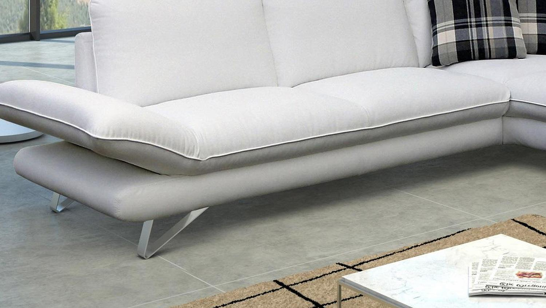 Ecksofa TAIFUNA Wohnlandschaft Sofa in weiß 220×275 # Ecksofa Wohnlandschaft