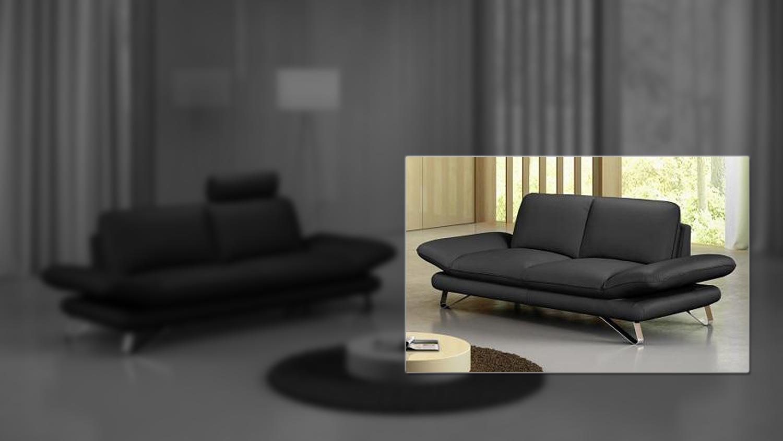 sofa 2 5 sitzer taifuna einzelsofa polsterm bel in schwarz. Black Bedroom Furniture Sets. Home Design Ideas