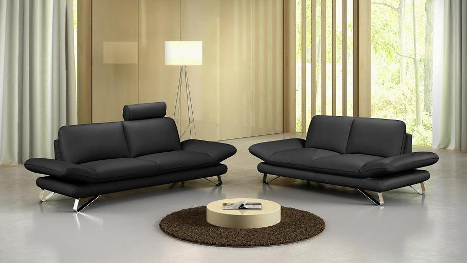 sofa 2 5 sitzer taifuna einzelsofa polsterm bel in schwarz. Black Bedroom Furniture Sets. Home Design Ideas