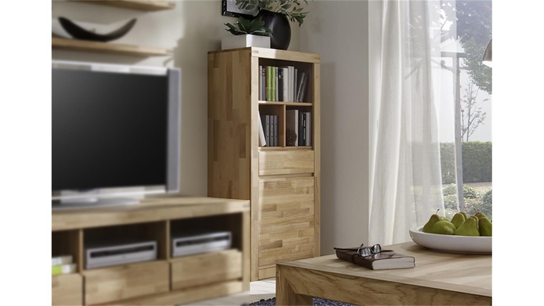 regal klein delft 2206 wildeiche massiv oberfl che ge lt. Black Bedroom Furniture Sets. Home Design Ideas