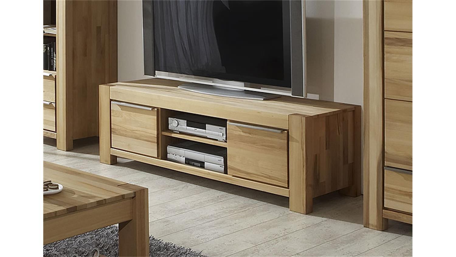 tv board nena lowboard tv unterteil in kernbuche massiv. Black Bedroom Furniture Sets. Home Design Ideas