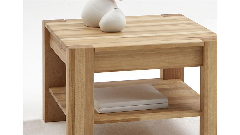 couchtisch nena beistelltisch in kernbuche massiv ge lt 65 x 65. Black Bedroom Furniture Sets. Home Design Ideas