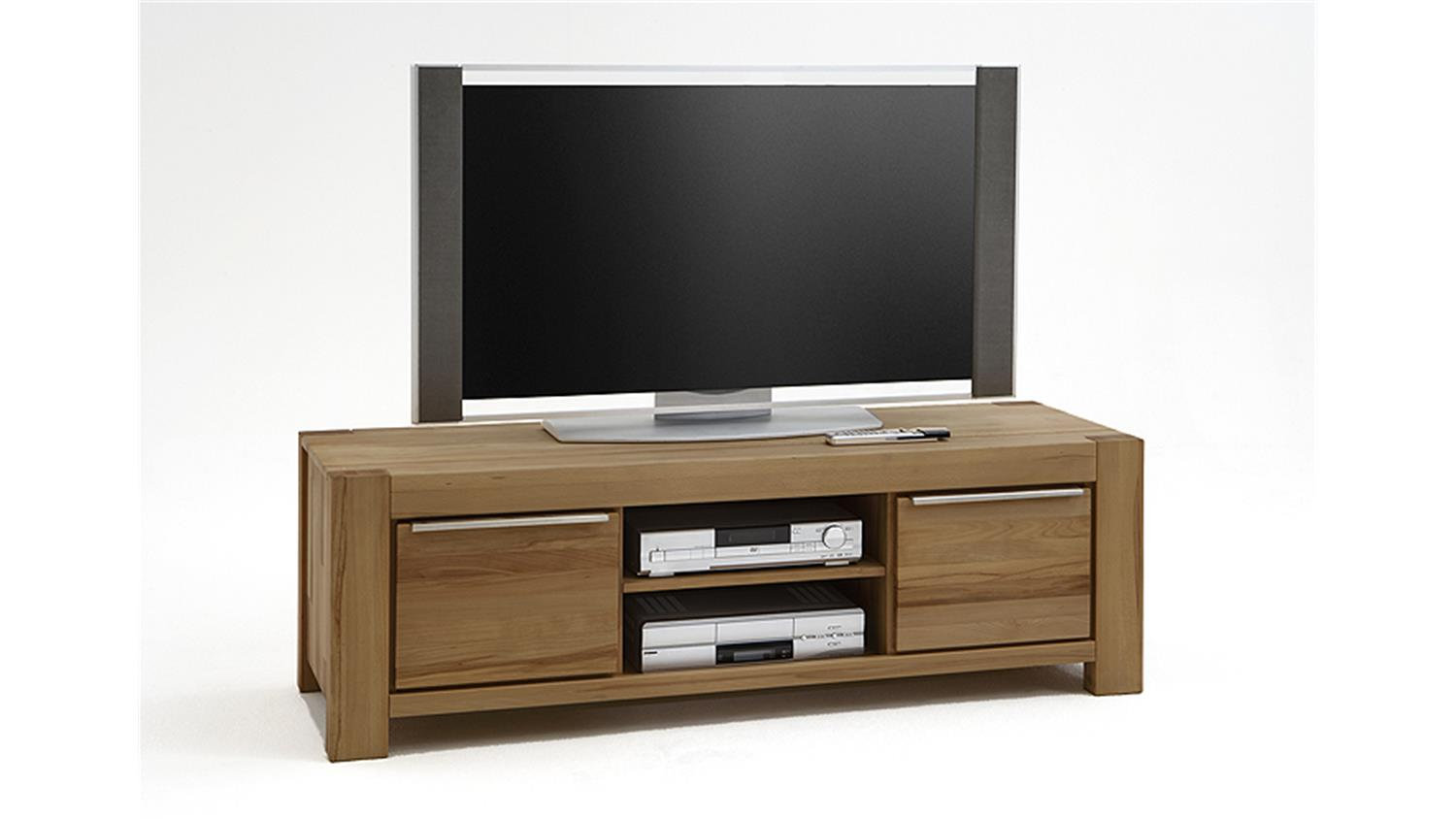 tv board nena lowboard kommode in wildeiche massiv ge lt. Black Bedroom Furniture Sets. Home Design Ideas