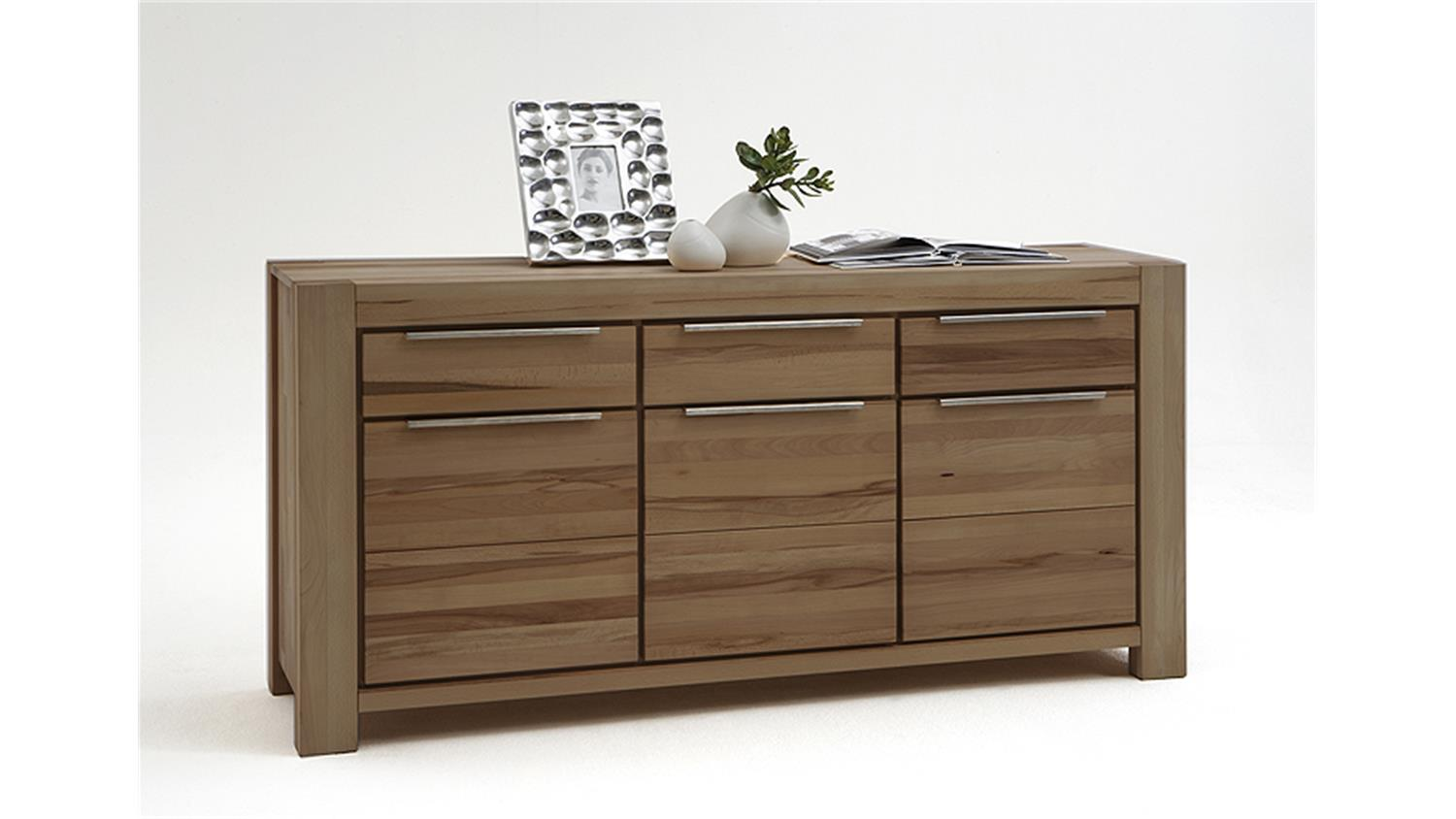 sideboard nena kommode in wildeiche massiv ge lt 175x86x45. Black Bedroom Furniture Sets. Home Design Ideas
