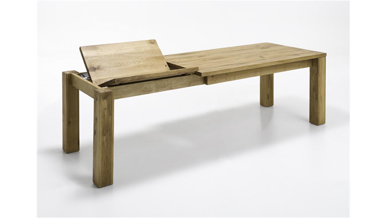 esstisch 2752 tisch wildeiche massiv ge lt ausziehbar 180 255. Black Bedroom Furniture Sets. Home Design Ideas