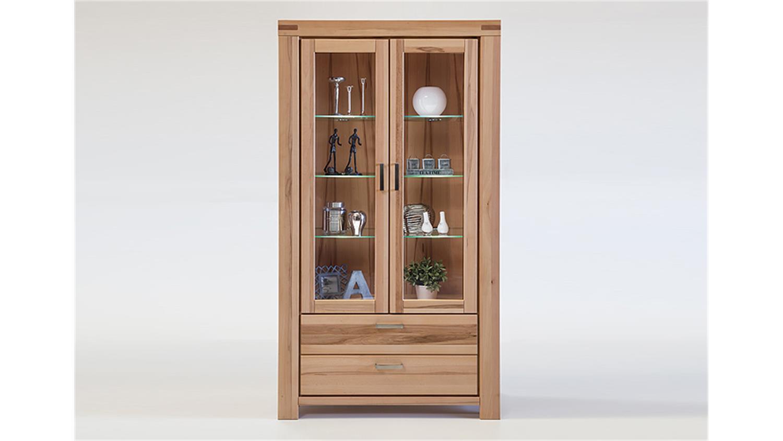 vitrine kira buffet standvitrine kernbuche massiv ge lt. Black Bedroom Furniture Sets. Home Design Ideas