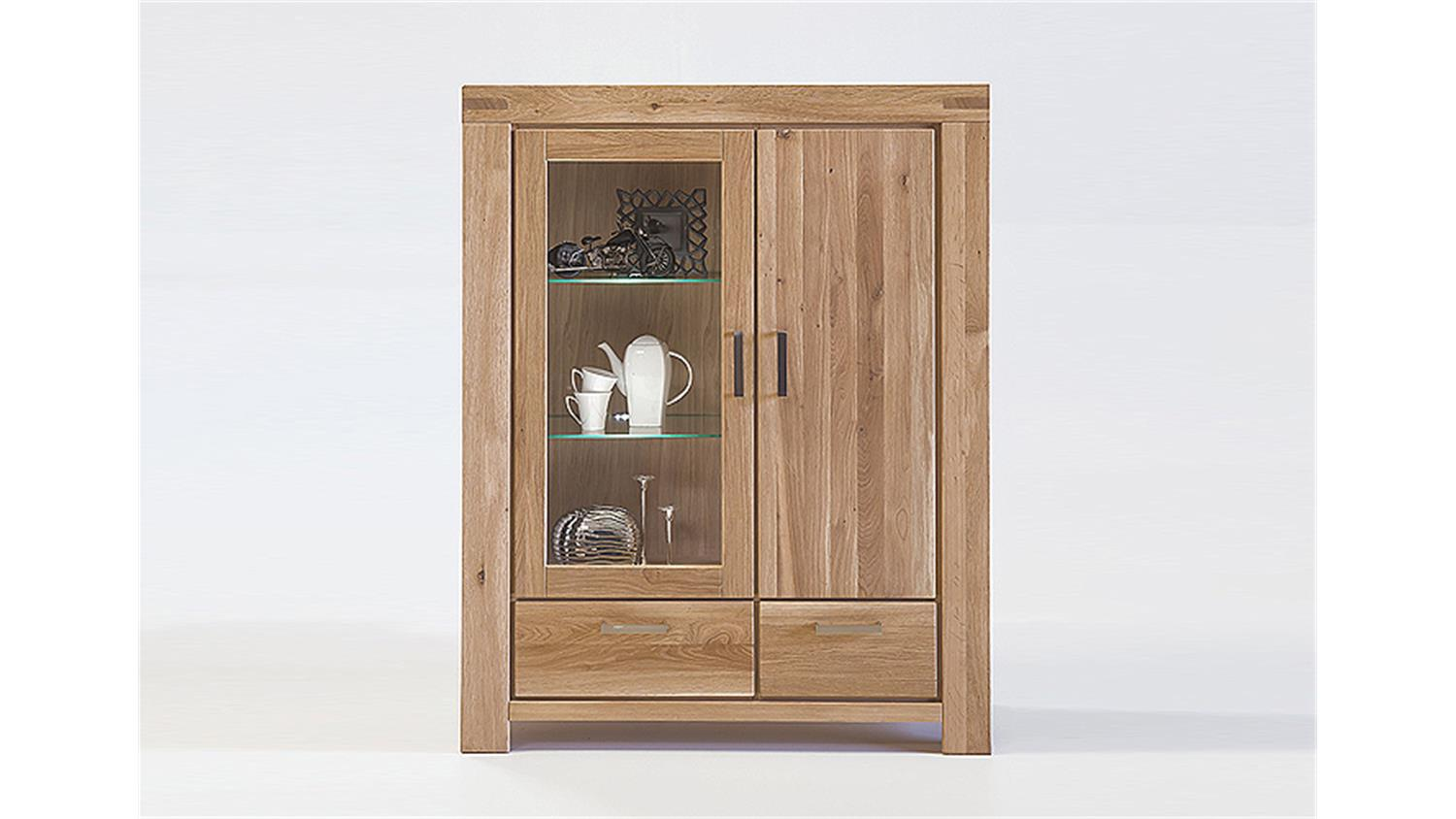 KIRA Buffet Schrank in Wildeiche massiv Bianco