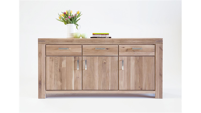 sideboard kira kommode anrichte in wildeiche massiv bianco. Black Bedroom Furniture Sets. Home Design Ideas