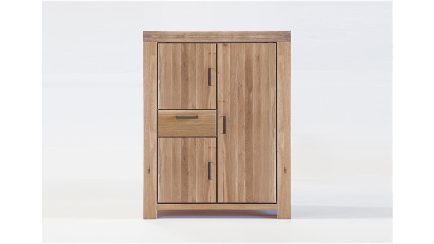 kommode kira highboard schrank in wildeiche massiv bianco. Black Bedroom Furniture Sets. Home Design Ideas