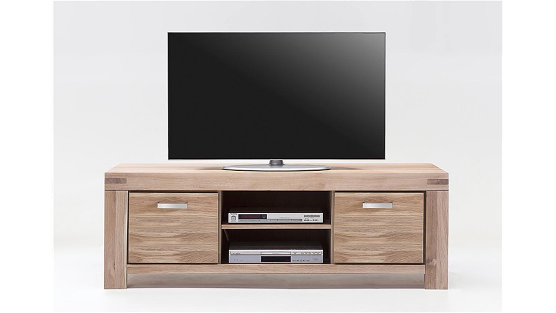tv kommode 2 kira tv board in wildeiche massiv bianco. Black Bedroom Furniture Sets. Home Design Ideas