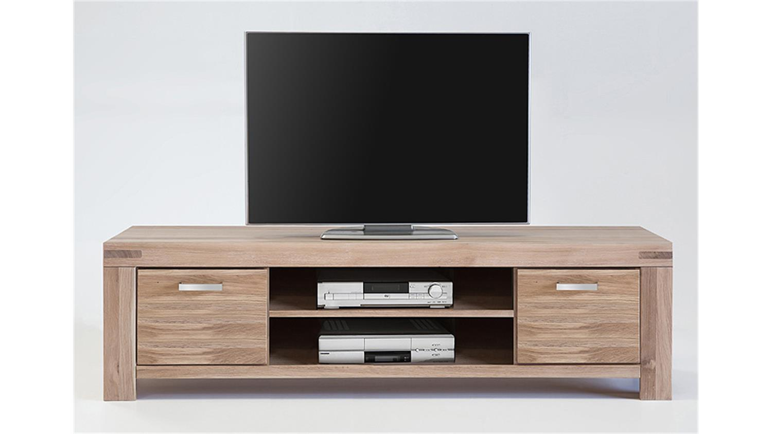 tv kommode 4 kira tv board in wildeiche massiv bianco. Black Bedroom Furniture Sets. Home Design Ideas