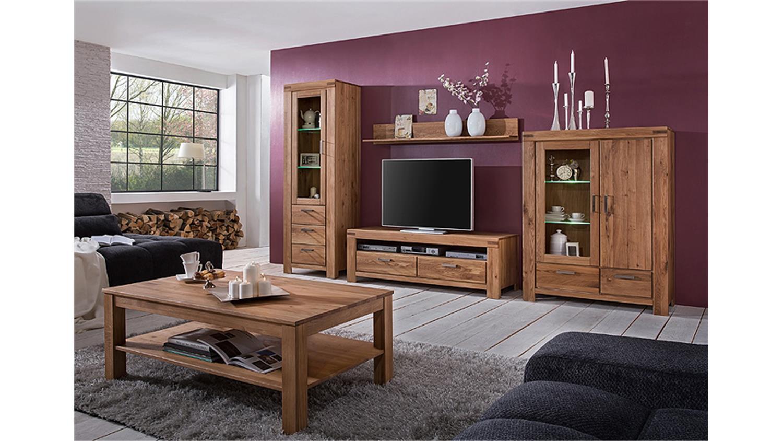 vitrine kira schrank standvitrine wildeiche massiv ge lt. Black Bedroom Furniture Sets. Home Design Ideas
