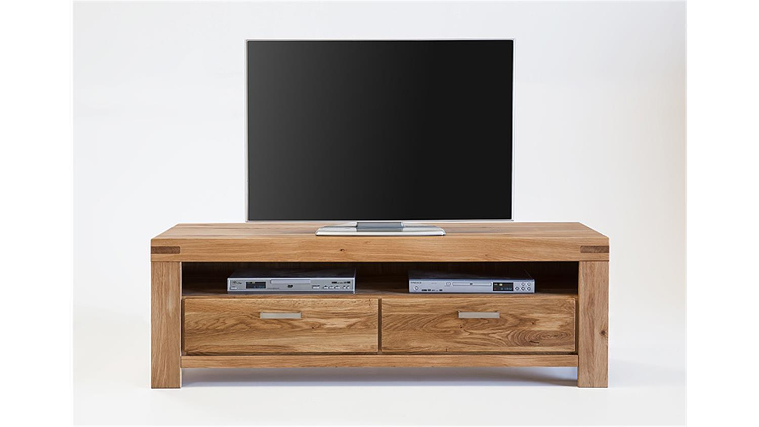 tv kommode kira tv board lowboard in wildeiche massiv ge lt. Black Bedroom Furniture Sets. Home Design Ideas