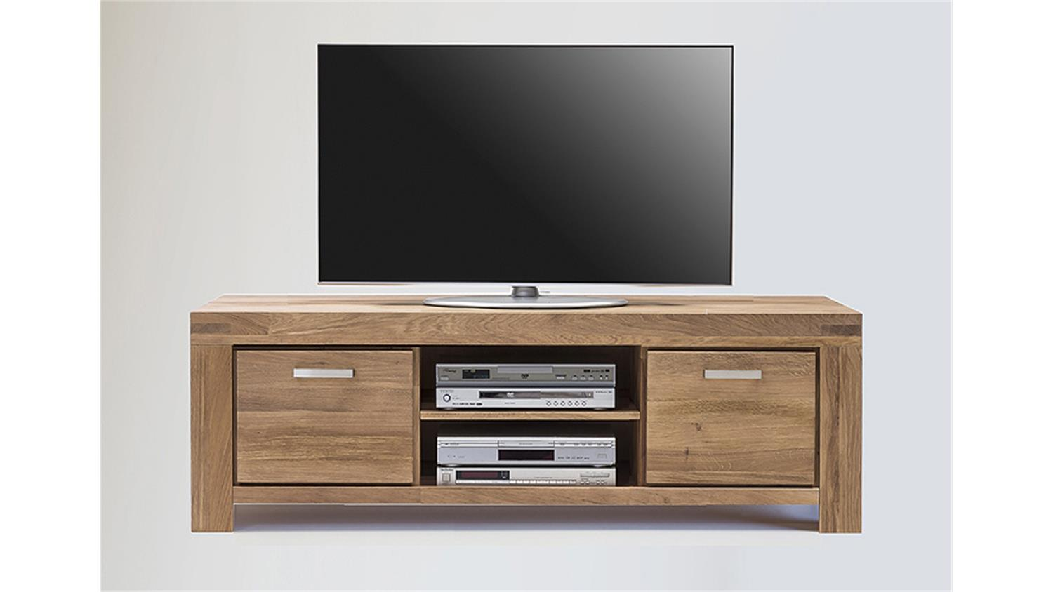 tv kommode 2 kira tv board in wildeiche massiv ge lt. Black Bedroom Furniture Sets. Home Design Ideas