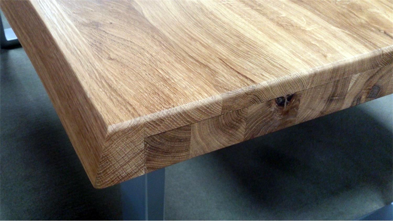 Esstisch wildeiche baumkante  Esstisch 2570 Tisch Baumkantentisch Eiche massiv geölt 200