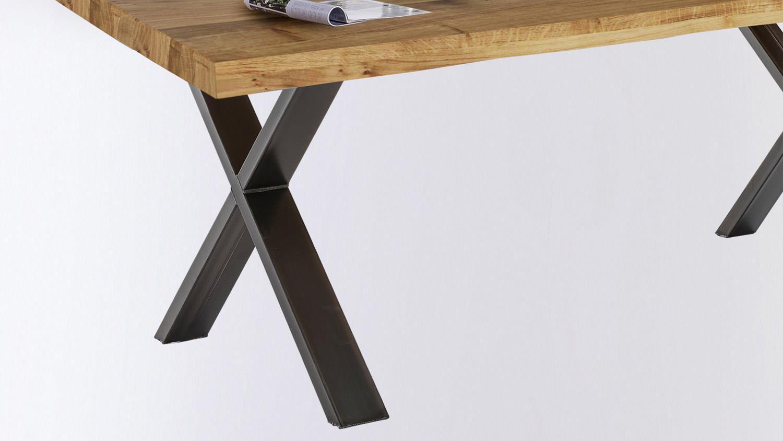 Esstisch TIM Tisch Tischsystem in Eiche massiv Baumkante