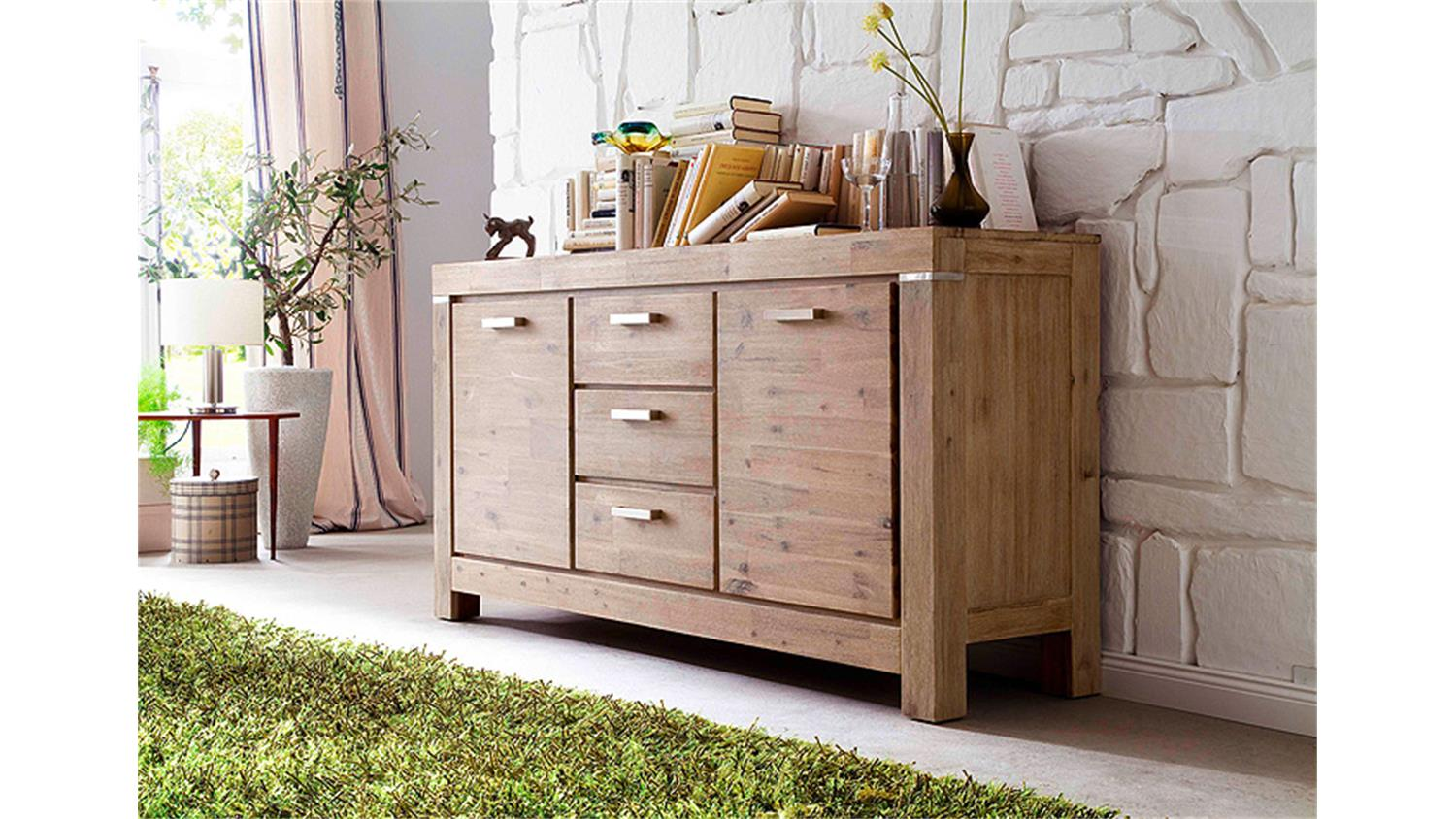 sideboard victoria akazie massiv sand ge lt und gek lkt. Black Bedroom Furniture Sets. Home Design Ideas