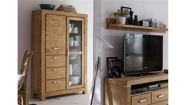 hochschrank victoria akazie massiv sand ge lt und gek lkt. Black Bedroom Furniture Sets. Home Design Ideas